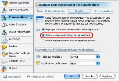 Le blog msn messenger avc d logiciels d astuces blog for Raccourci clavier changer de fenetre